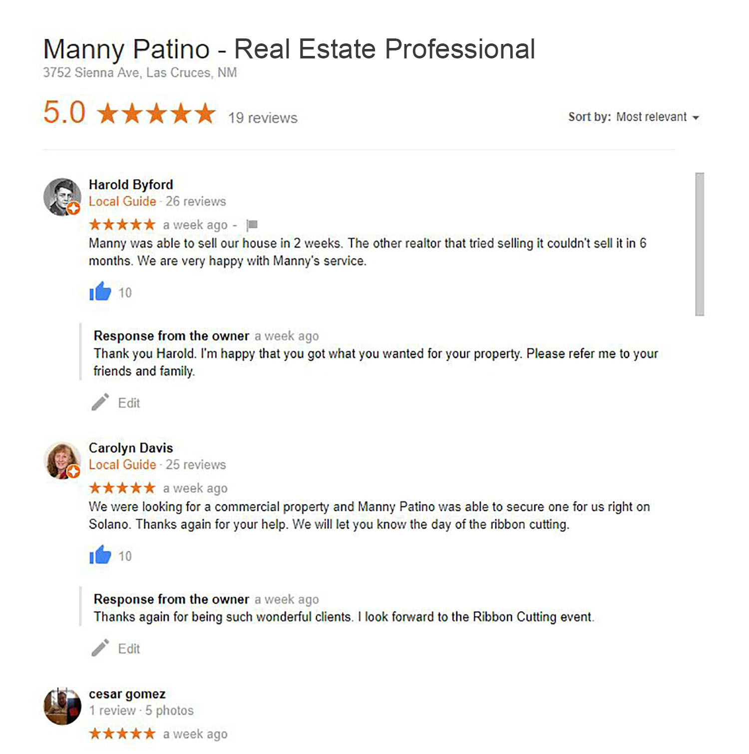 Manny Patino Real Estate